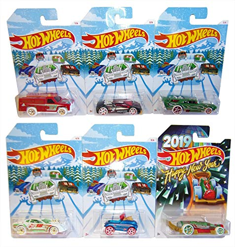 Hot Wheels Mattel Holiday Hot Rood 6er Pack Winter 2018 Modell-Autos für Kinder und Sammler von Hot Wheels