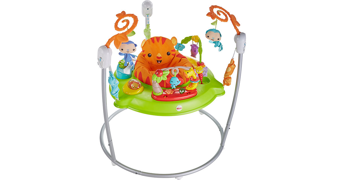 Fisher-Price Spielspaß Rainforest Jumperoo, Tür-Hopser, Baby-Hopser von Mattel