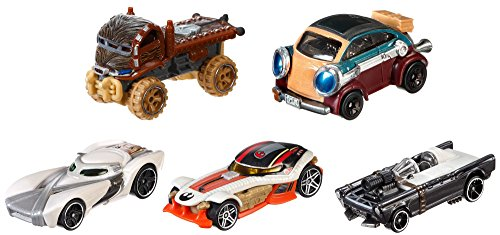 Hot Wheels Mattel DJP17 - Verkehrsmodelle, Star Wars Helden des Widerstands 5-er Pack von Hot Wheels