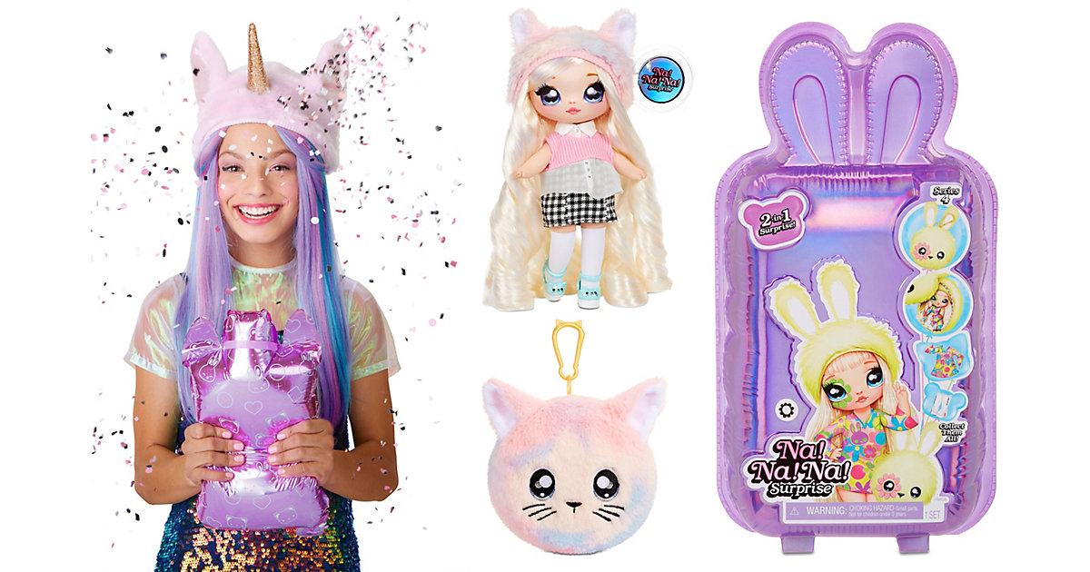 Na! Na! Na! Surprise 2-in-1 Pom Doll Series 4, sortiert Doll 1-6 von Mga