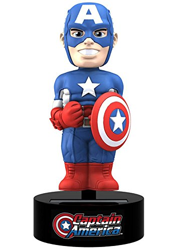 NECA 61390 Marvel - Captain America Body Knocker 15cm (solarbetrieben) von Neca