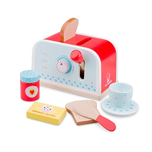 New Classic Toys 10701 - Toaster-Set aus Holz von New Classic Toys