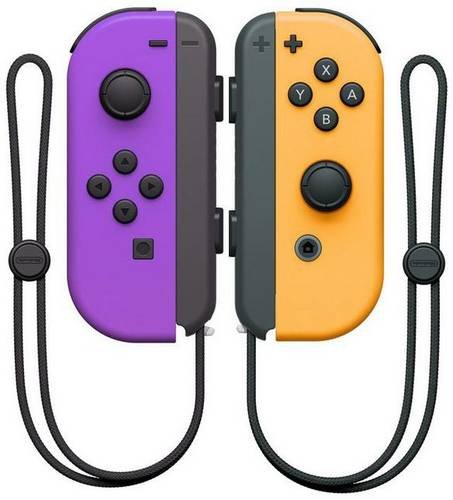 Nintendo Switch Joy-Con 2er-Set neon-lila/neon-orange Controller Switch Neon-Lila, Neonorange von Nintendo