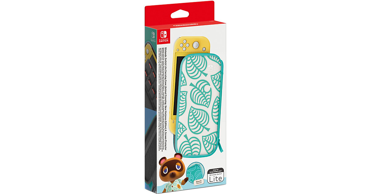 Nintendo Switch Lite-Tasche (Animal Crossing: New Horizons-Edition) & -Schutzfolie von Nintendo