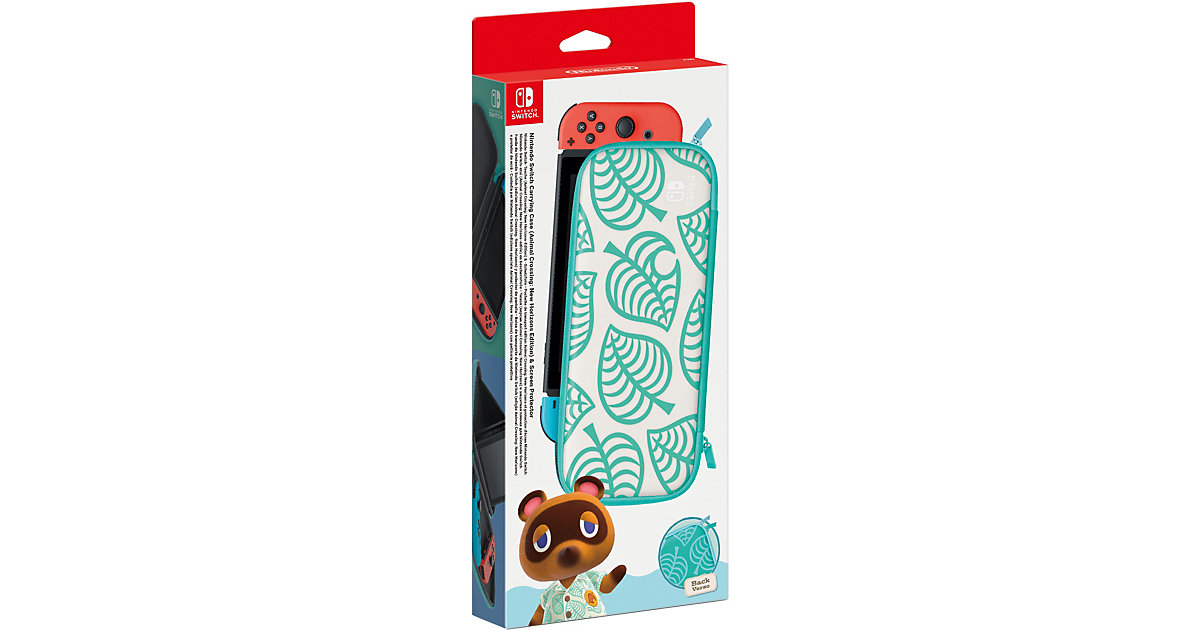 Nintendo Switch-Tasche (Animal Crossing: New Horizons-Edition) & -Schutzfolie von Nintendo