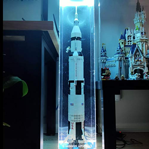 OVERWELL Vitrine Box Schaukasten Display Case für Lego 21309 NASA Apollo Saturn V von OVERWELL