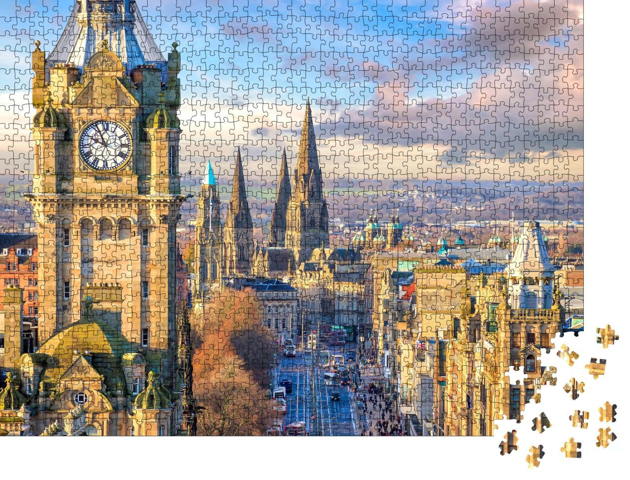 "Puzzle-Motiv ""Old town Edinburgh und Edinburgh Castle in Schottland UK"" von OrangePuzzle"