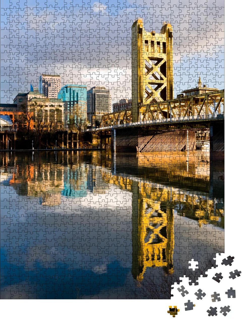 "Puzzle-Motiv ""Tower Bridge in Sacramento Kalifornien"" von OrangePuzzle"