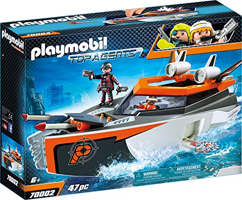 Playmobil 70002 Top Agents Spy Team Turboship, bunt von Playmobil