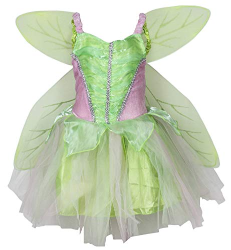 Petitebelle Green Fairy Costume Wing Set Party Dress for Girl Clothing 2-8year (2-4years) von Petitebelle