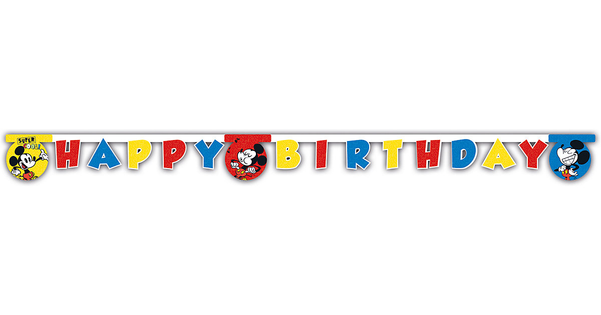 Happy Birthday Girlande Mickey Super Cool 200 x 14 cm von Procos