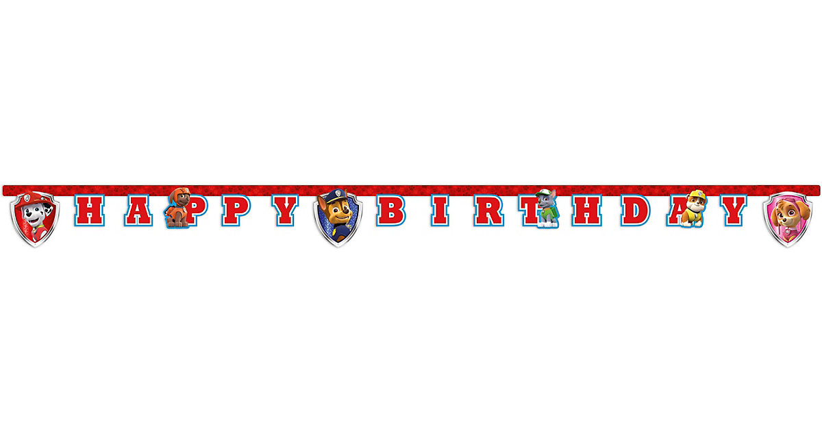 Happy Birthday Girlande PAW Patrol - Ready For Action von Procos