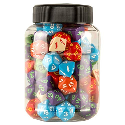 Q-Workshop MIX07 - Round Jar of Classic RPG Dice (80) von Q-Workshop