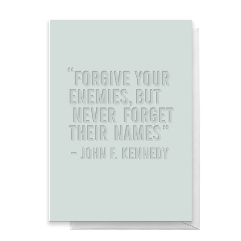 Forgive Your Enemies Greetings Card - Standard Card von Quotes Product Specific
