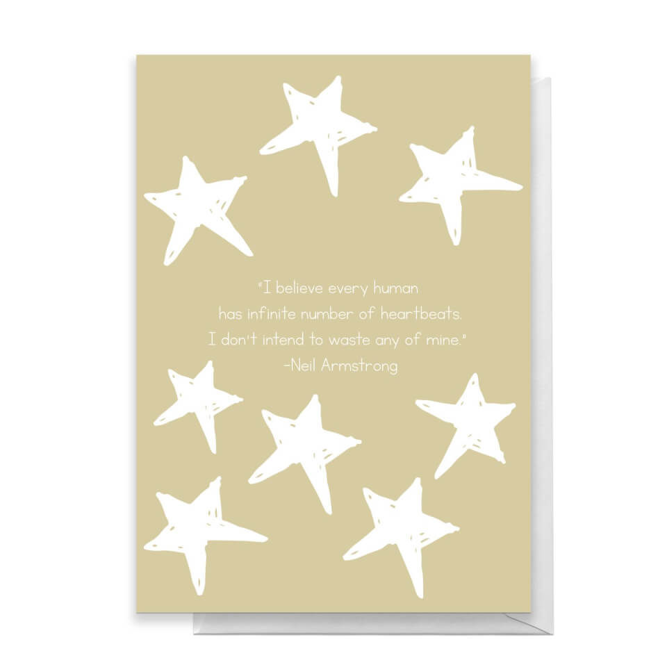 I Believe Every Human Has Infinite Number Of Heartbeats Greetings Card - Large Card von Quotes Product Specific