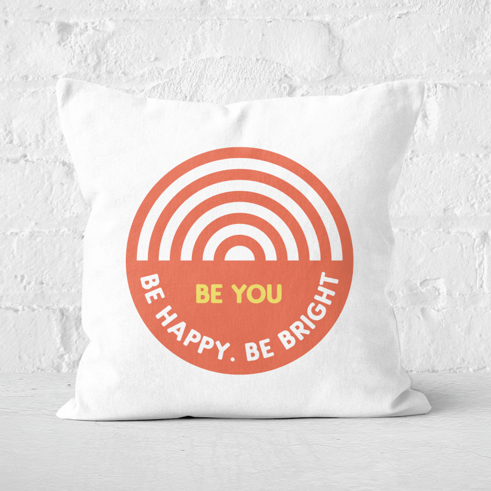 Be You Rainbow Square Cushion - 60x60cm - Soft Touch von Rainbow