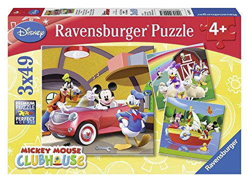 Disney Mickey Mouse, Clubhaus 3 x 49 Teile, Puzzle von Ravensburger