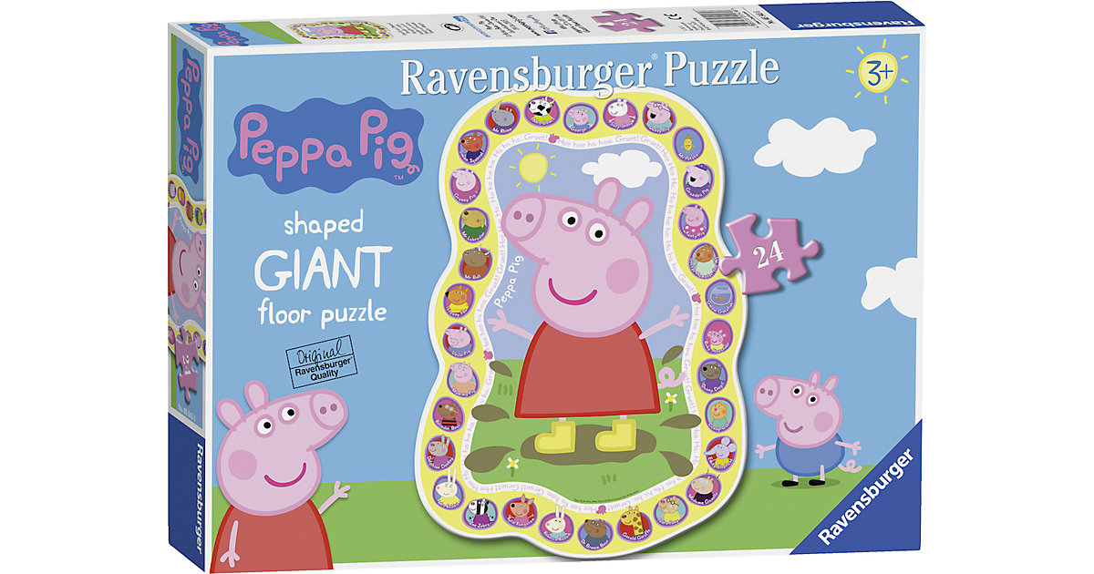 Peppa Pig Shaped Puzzle 24 Teile von Ravensburger