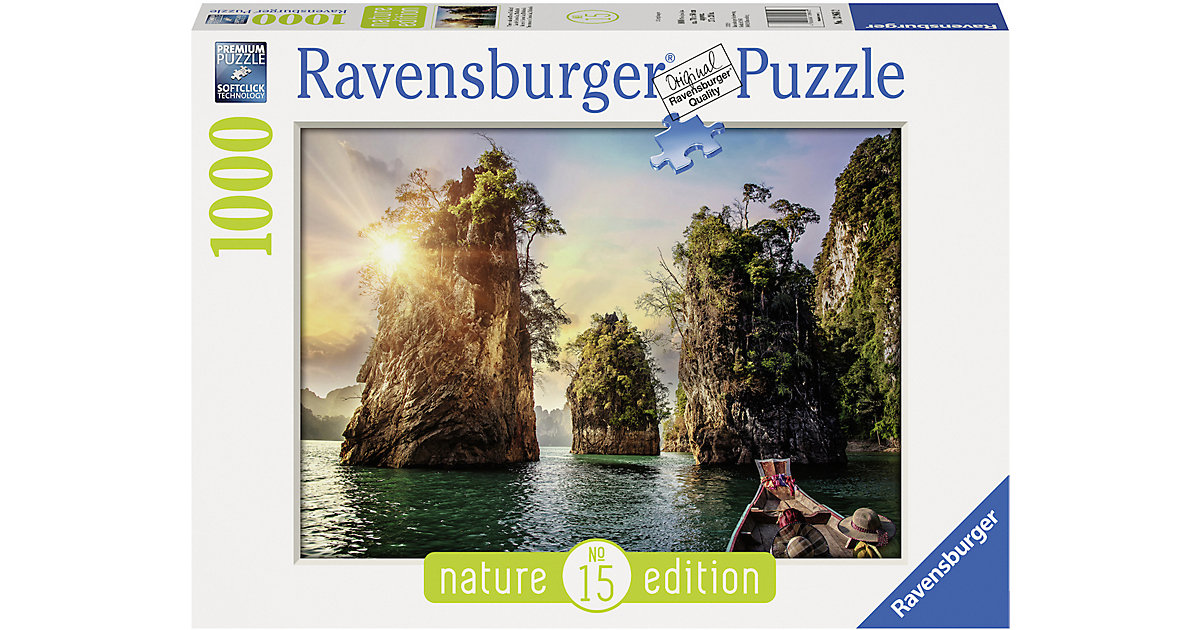 Puzzle 1000 Teile, 70x50 cm, Three rocks in Cheow, Thailand von Ravensburger