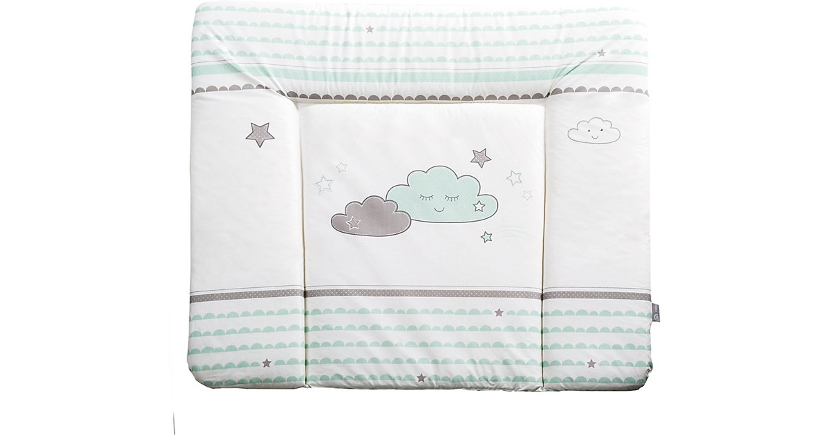 Wickelauflage Happy Cloud, mint/ taupe, 85 x 75 cm von Roba
