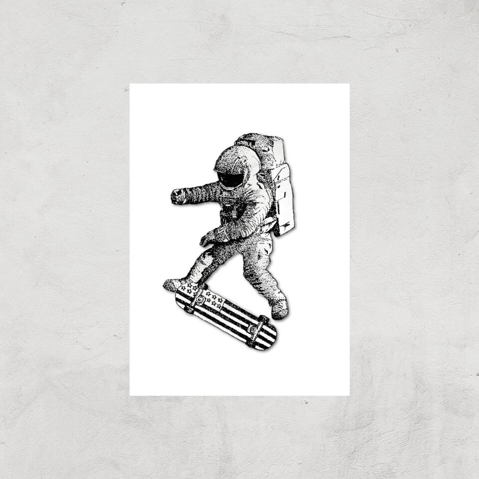 Kickflip In Space Art Print - A4 - Print Only von Robert Farkas
