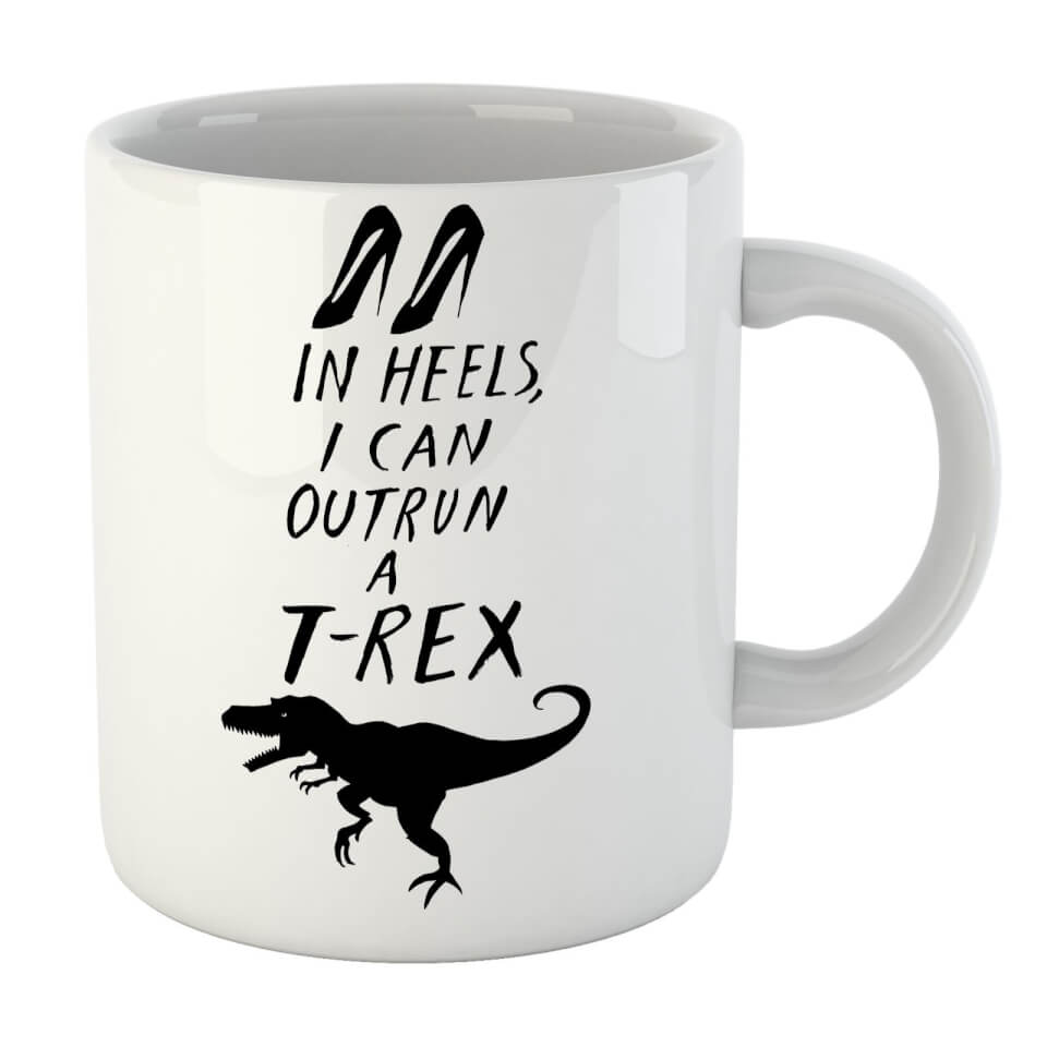 Rock On Ruby In Heels I Can Outrun A T-Rex Mug von Rock On Ruby