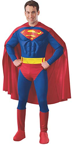 Rubie's 3888016 - Superman Muscle Chest Adult, M, blau/rot von Rubie's