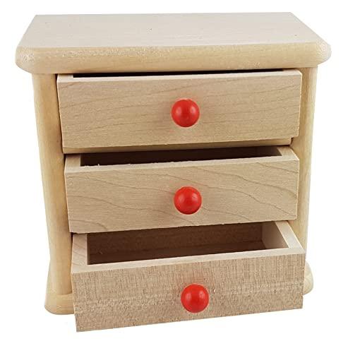 rot R/ülke Holzspielzeug 22007 Minipuppenzubeh/ör holzfarben