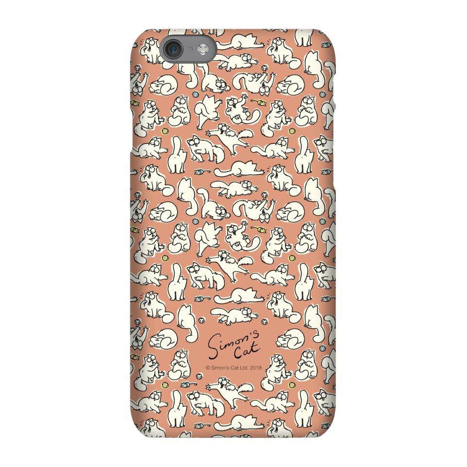 Simons Cat Chasing Toys Phone Case for iPhone and Android - iPhone 8 Plus - Snap Hülle Glänzend von Simon's Cat