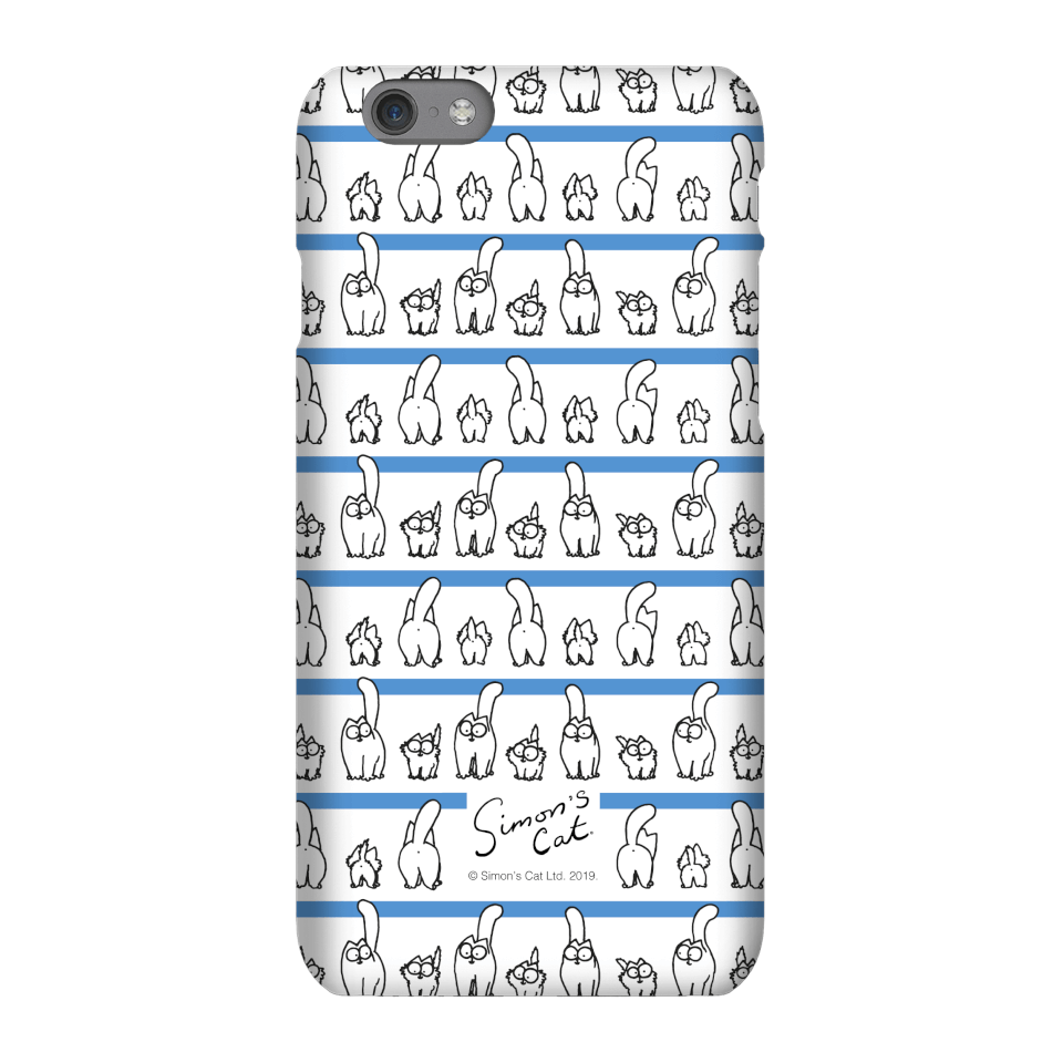 Simons Cat Lined up Cats Phone Case for iPhone and Android - iPhone 8 Plus - Snap Hülle Matt von Simon's Cat