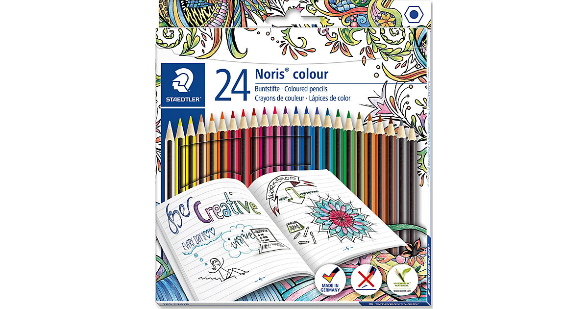 "Noris colour Buntstifte Sonderedition""Johanna Basford"", 24 Farben von Staedtler"
