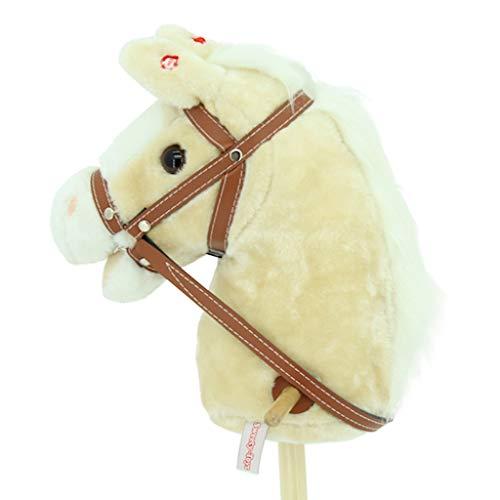 Sweety-Toys 6755  RED Sugar  CORD COTTON Steckenpferd mit Funktion Gewieher und Galoppger/äusch