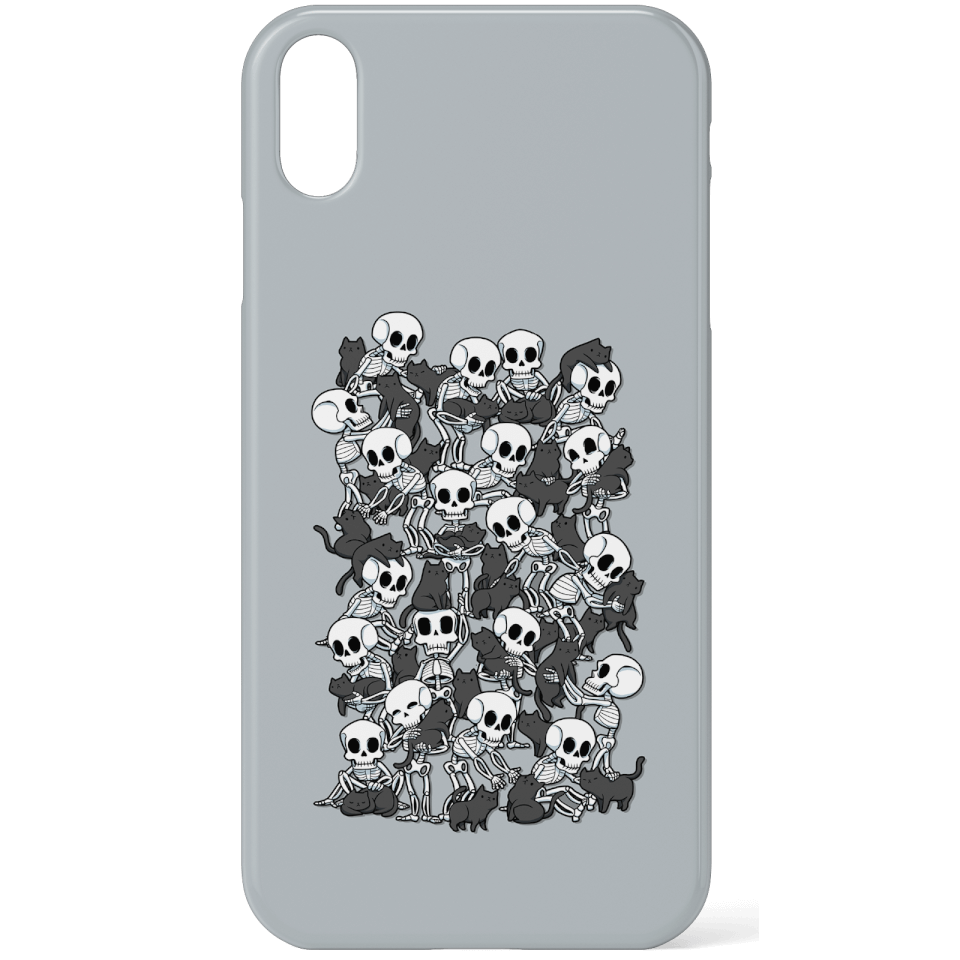 Cat Skull Party Phone Case for iPhone and Android - iPhone X - Snap Hülle Matt von TOBIAS FONSECA