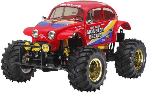 Tamiya Monster Beetle Brushed 1:10 RC Modellauto Elektro Monstertruck Heckantrieb (2WD) Bausatz von Tamiya