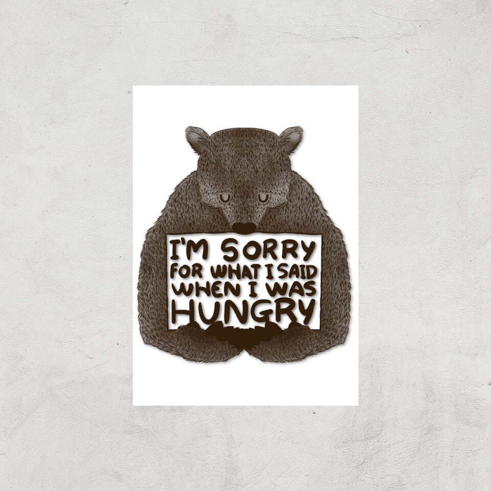 Tobias Fonseca Sorry for What I Said When I Was Hungry Art Print - A3 - Print Only von Tobias Fonseca