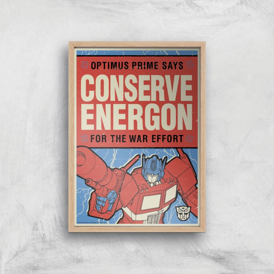 Transformers Conserve Energon Poster Art Print - A4 - Wooden Frame von Transformers
