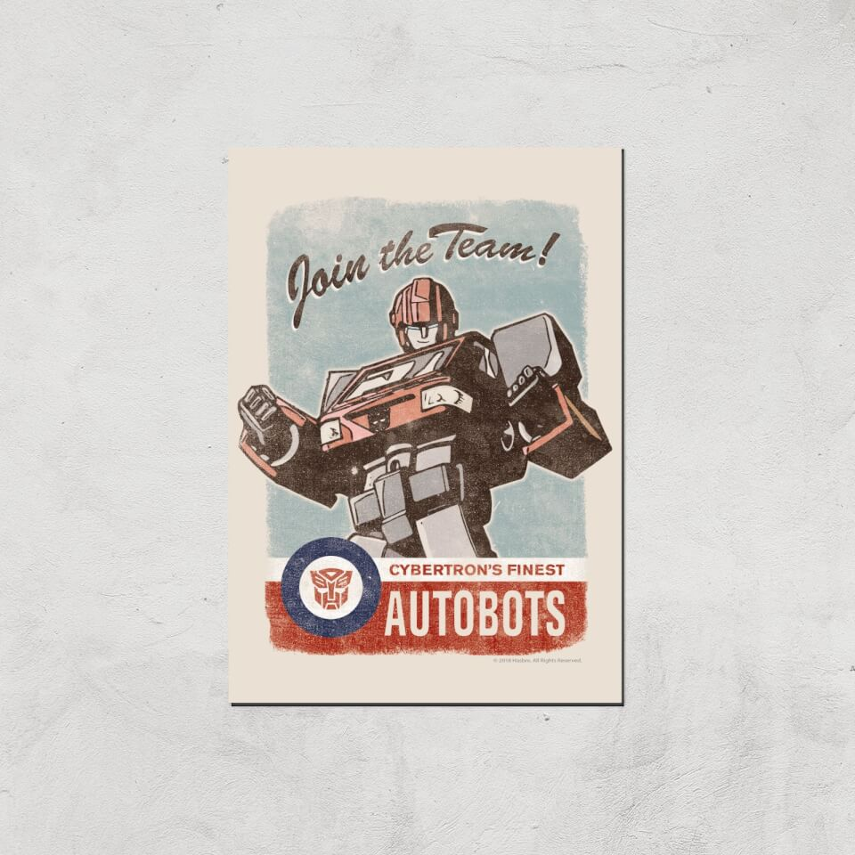 Transformers Join The Team Art Print - A2 - Print Only von Transformers
