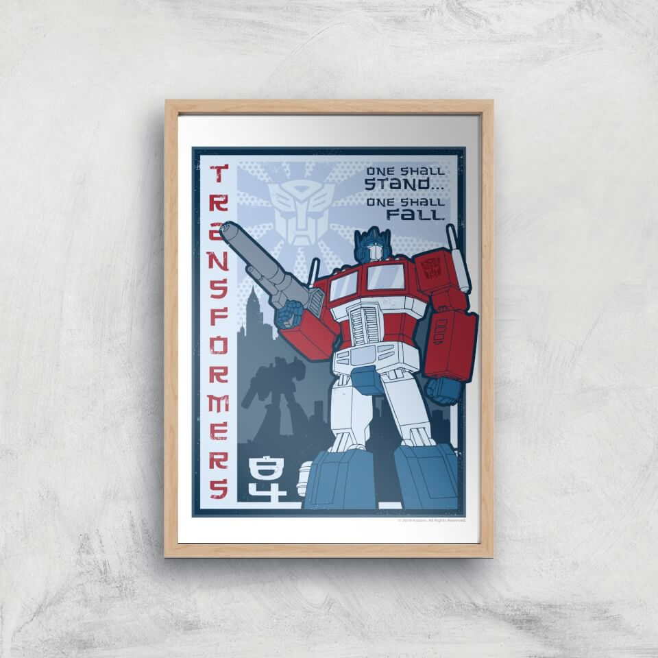 Transformers One Shall Stand Poster Art Print - A3 - Wooden Frame von Transformers