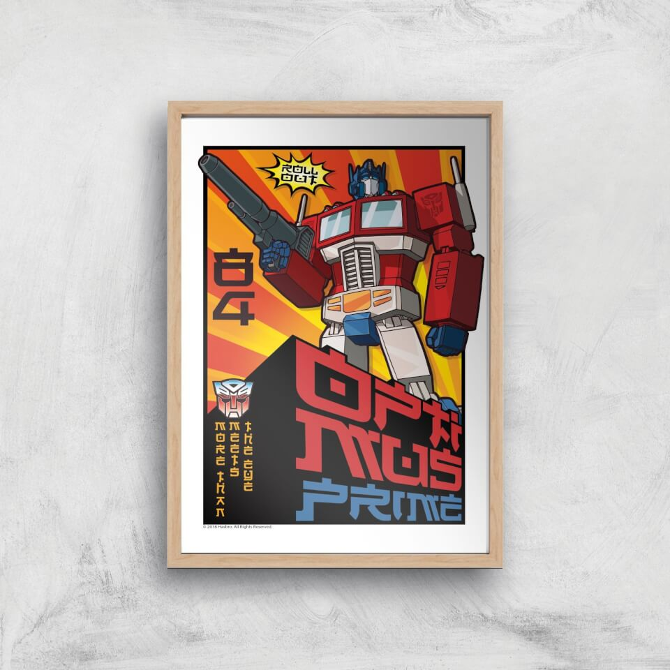 Transformers Roll Out Poster Art Print - A2 - Wooden Frame von Transformers