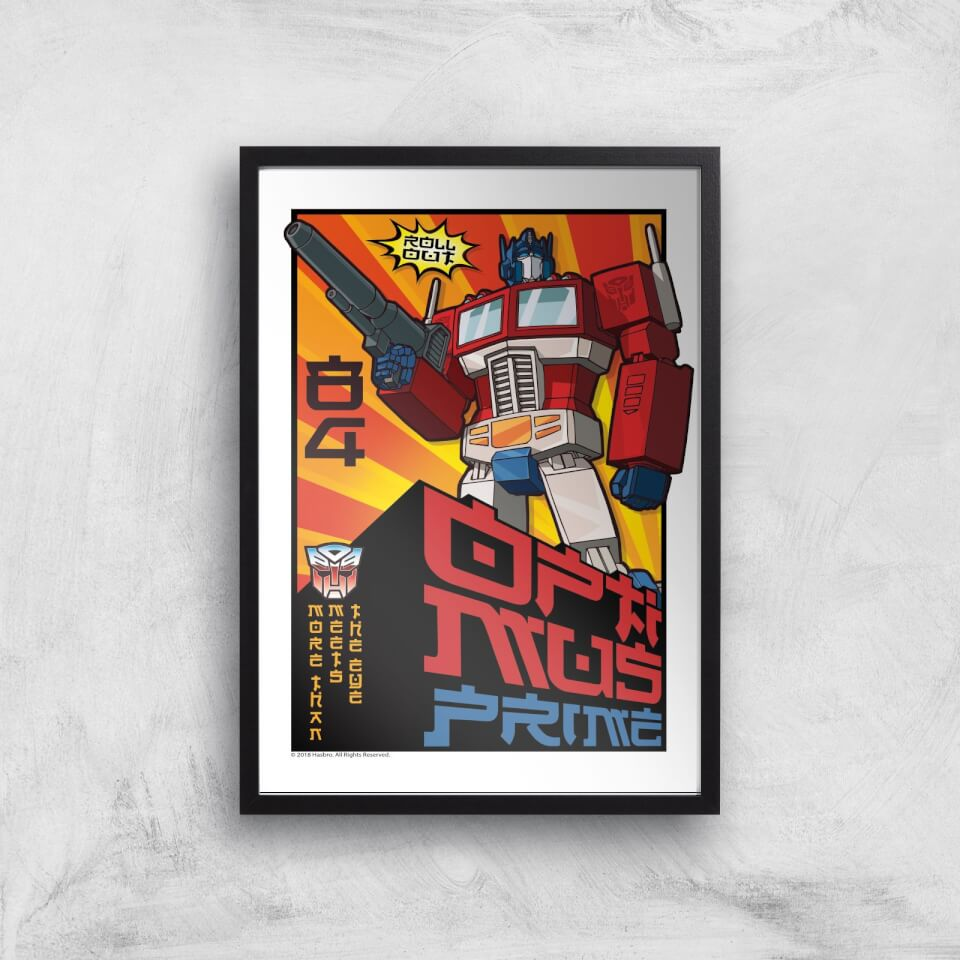 Transformers Roll Out Poster Art Print - A3 - Black Frame von Transformers