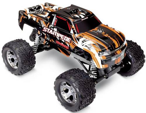 Traxxas Stampede Orange Brushless 1:10 RC Modellauto Elektro Monstertruck Heckantrieb (2WD) RtR 2,4G von Traxxas
