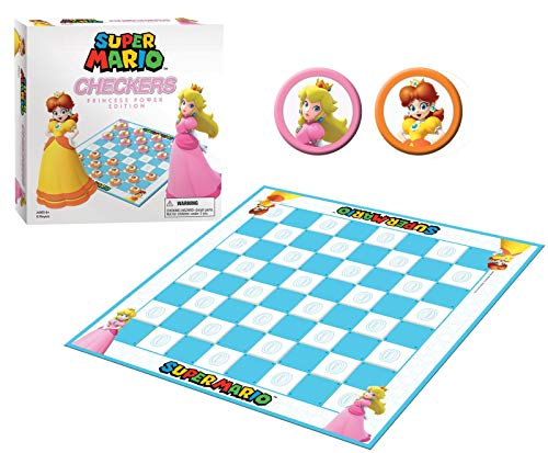 Super Mario Boardgame Checkers Princess Power USAopoly Giochi Tavolo Accessori von USAopoly