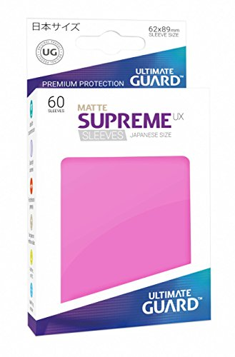 Ultimate Guard UGD010600 Supreme UX Sleeves, Japanische Größe, matt pink von Ultimate Guard