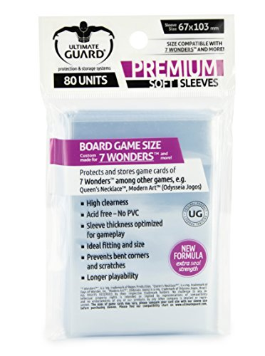 Ultimate Guard UGD010278 - Premium Sleeves für Brettspielkarten 7 Wonders™ 80 von Ultimate Guard