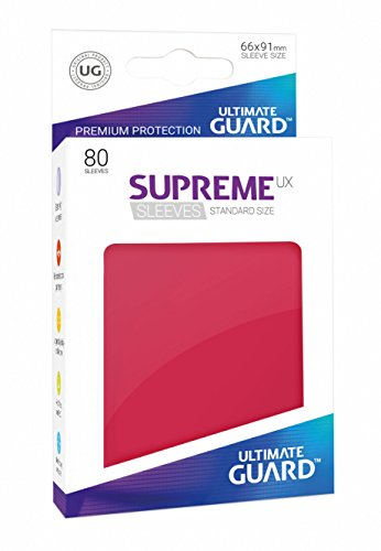 Ultimate Guard UGD010544 Supreme UX Sleeves, Standardgröße, rot von Ultimate Guard