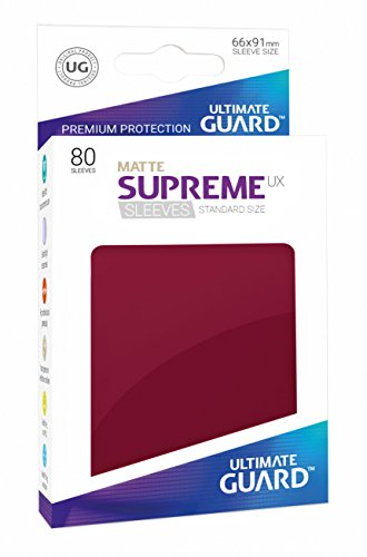Ultimate Guard UGD010608 Supreme UX Sleeves, Standardgröße, matt Burgundrot von Ultimate Guard