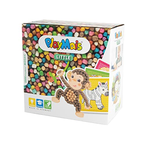 PlayMais 160180 - PlayMais Mosaic Little Zoo, Bastelset von PlayMais