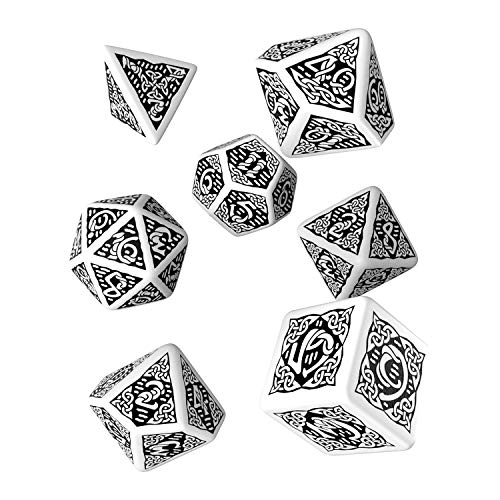 Q-Workshop QWOCER02 - Celtic 3D Dice, Brettspiel, weiß/schwarz von Q-Workshop