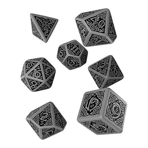 Q-Workshop QWOCER12 - Celtic 3D Dice, Brettspiel, grau/schwarz von Q-Workshop