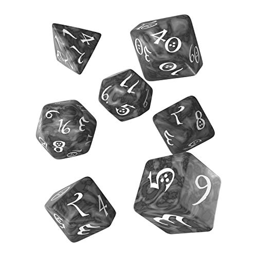 Q-Workshop QWOCLE78 - Brettspiel Classic RPG Dice, smoky/weiß von Q-Workshop